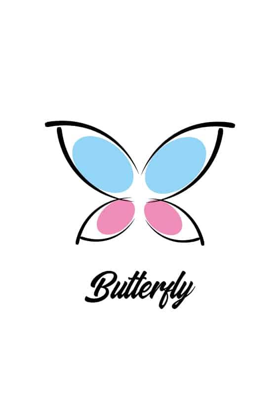 آموزش طراحی لوگو پروانه